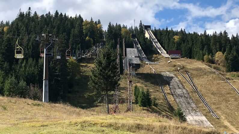 Visiting the abandoned Olympic ski jumps and former Hotel Igman in Bosnia and Herzegovina
