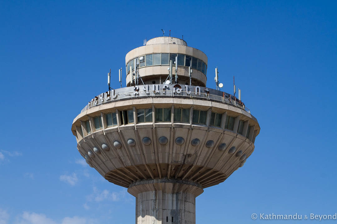 Former Control Tower Zvartnots International Airport Yerevan Armenia-2