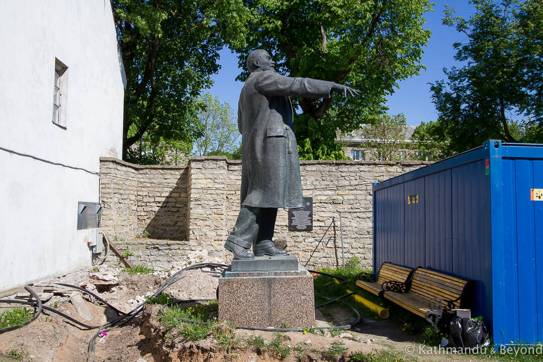 Monument to Vladimir Lenin in Narva, Estonia | Soviet monument | former USSR