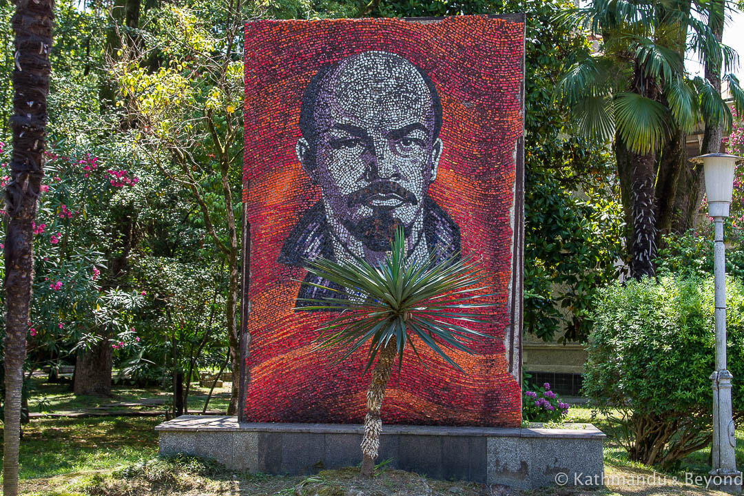Mosaic of V.I. Lenin Strategic Missile Forces and MVO Military Sanatorium (Sanatorium MVO Sukhum) Sukhumi Abkhazia-4