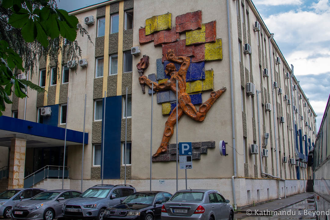 Hotel Athletics (Georgian Athletics National Federation) in Tbilisi, Georgia | Soviet artwork | former USSR