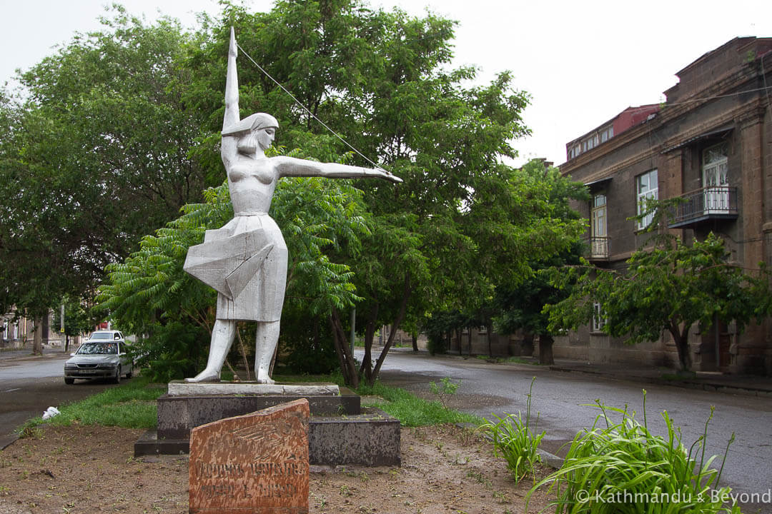 Monument to Textile Factory Workers in Gyumri, Armenia | Soviet monument | former USSR