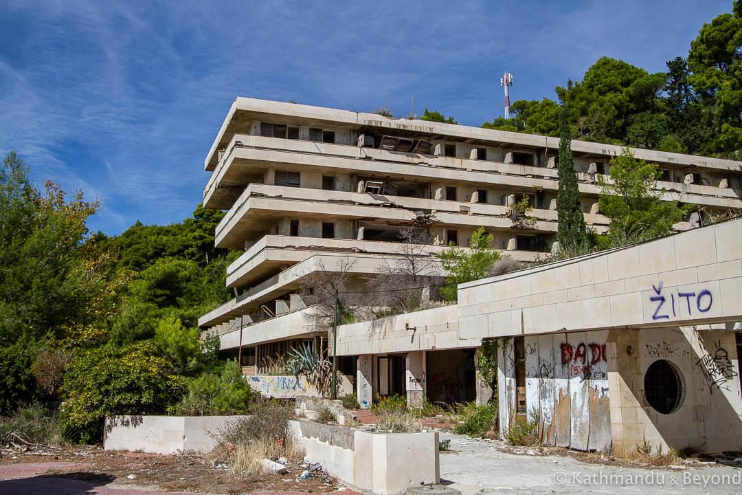 Hotel Goričina I in Kupari, Croatia | Modernist | Socialist architecture | former Yugoslavia