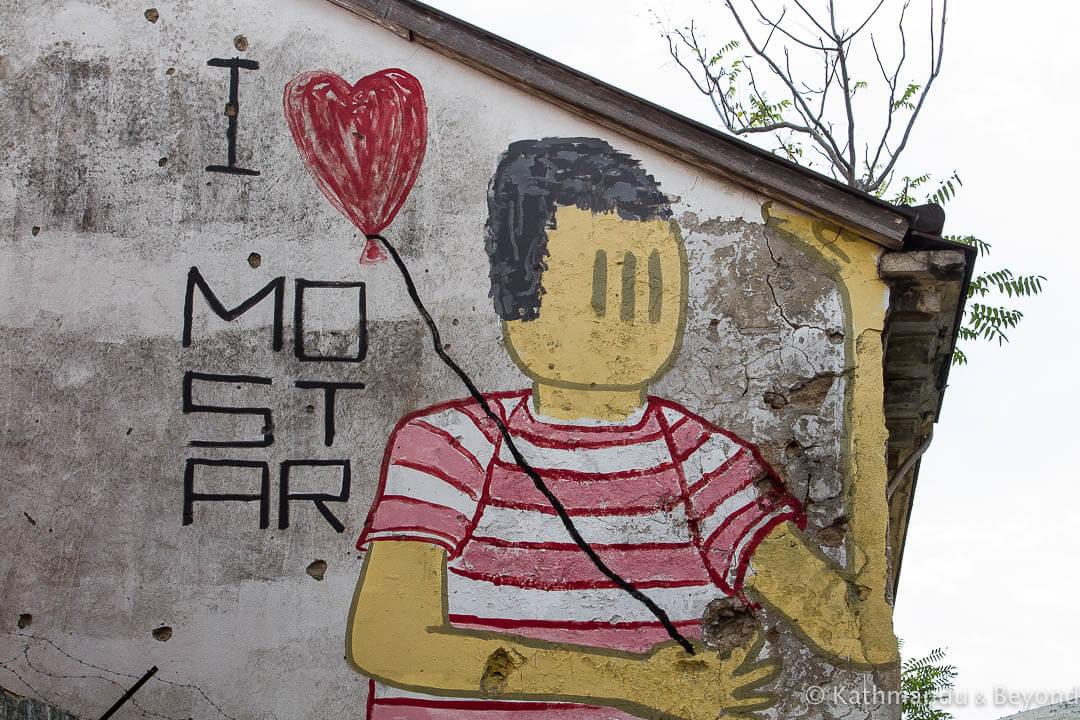 Street Art in Mostar, Bosnia and Herzegovina