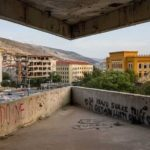 The Sniper Tower in Mostar, Bosnia and Herzegovina