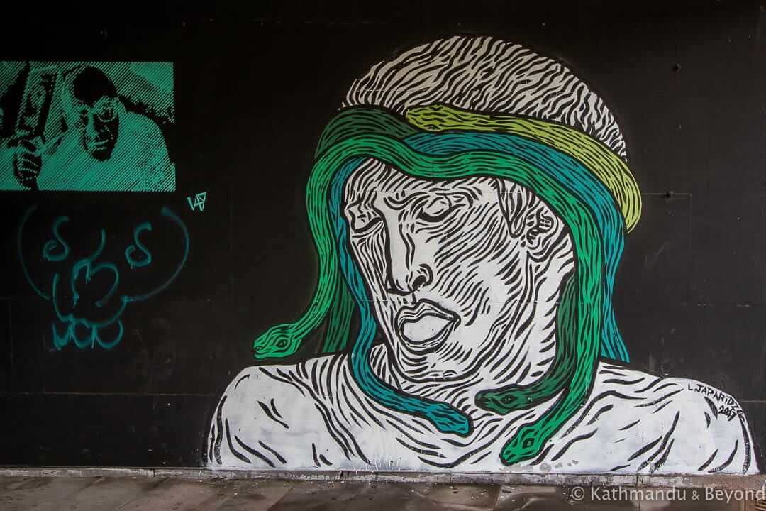 Street Art at Heroes Square Underpass, Tbilisi, Georgia