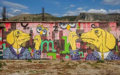 Street Art and Graffiti in Mostar, Bosnia & Herzegovina