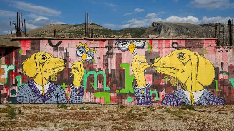 Street Art in Mostar, Bosnia and Herzegovina