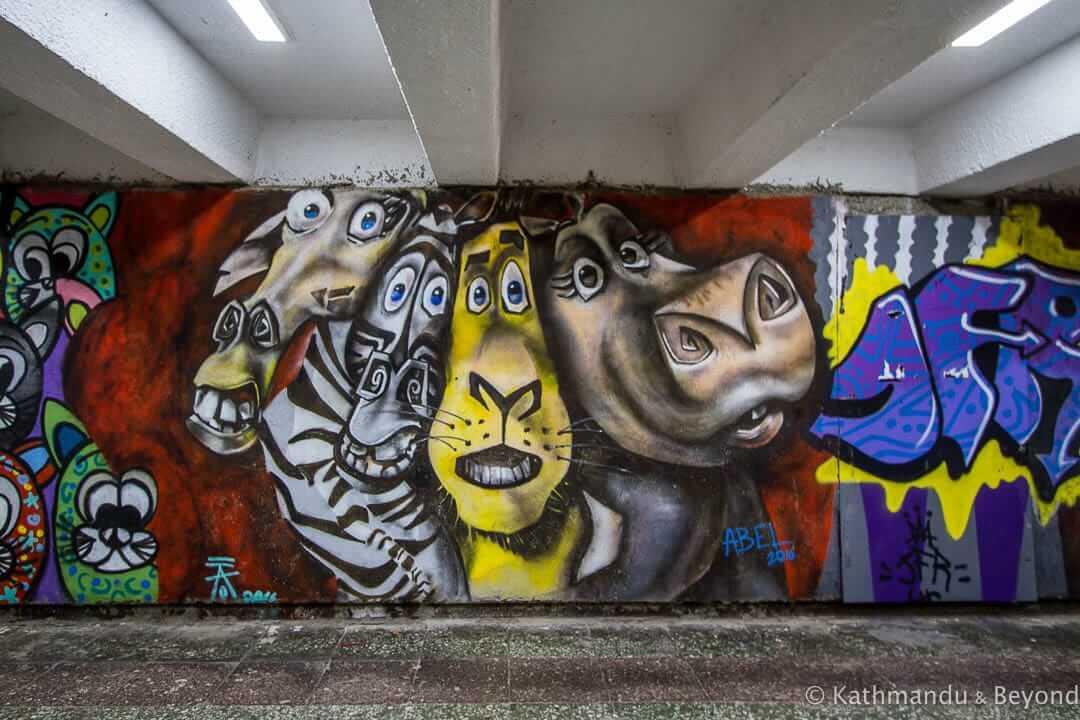 Street Art near Vake Park, Tbilisi, Georgia