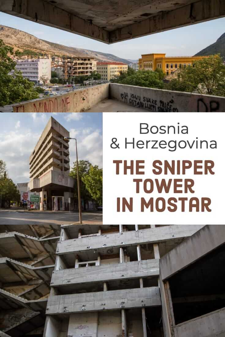 The Sniper Tower in Mostar, Bosnia and Herzegovina #snipertower #mostar #balkans #travel #formeryugoslavia #culture #history