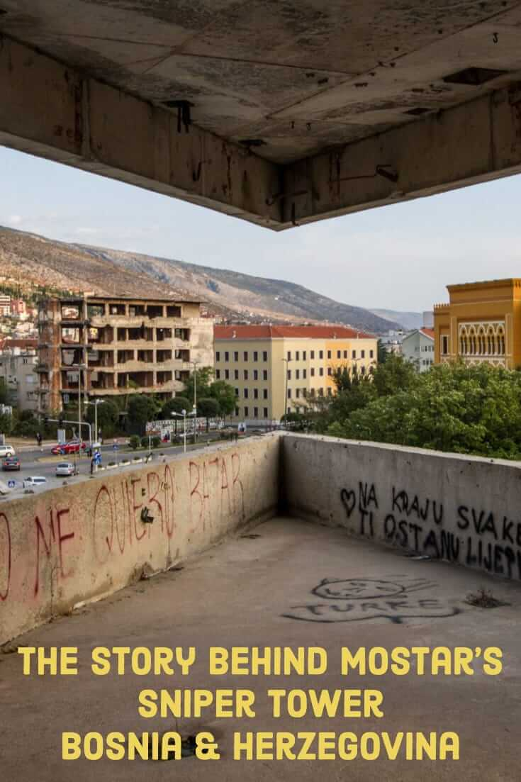 The story behind the Sniper Tower in Mostar, Bosnia and Herzegovina #snipertower #mostar #balkans #travel #formeryugoslavia #history #culture
