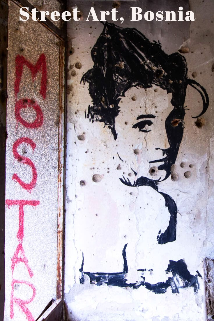 Where to find the best graffiti and street art in Mostar, Bosnia & Herzegovina #streetart #urbanwalls #travel #balkans #urbanart #formeryugoslavia
