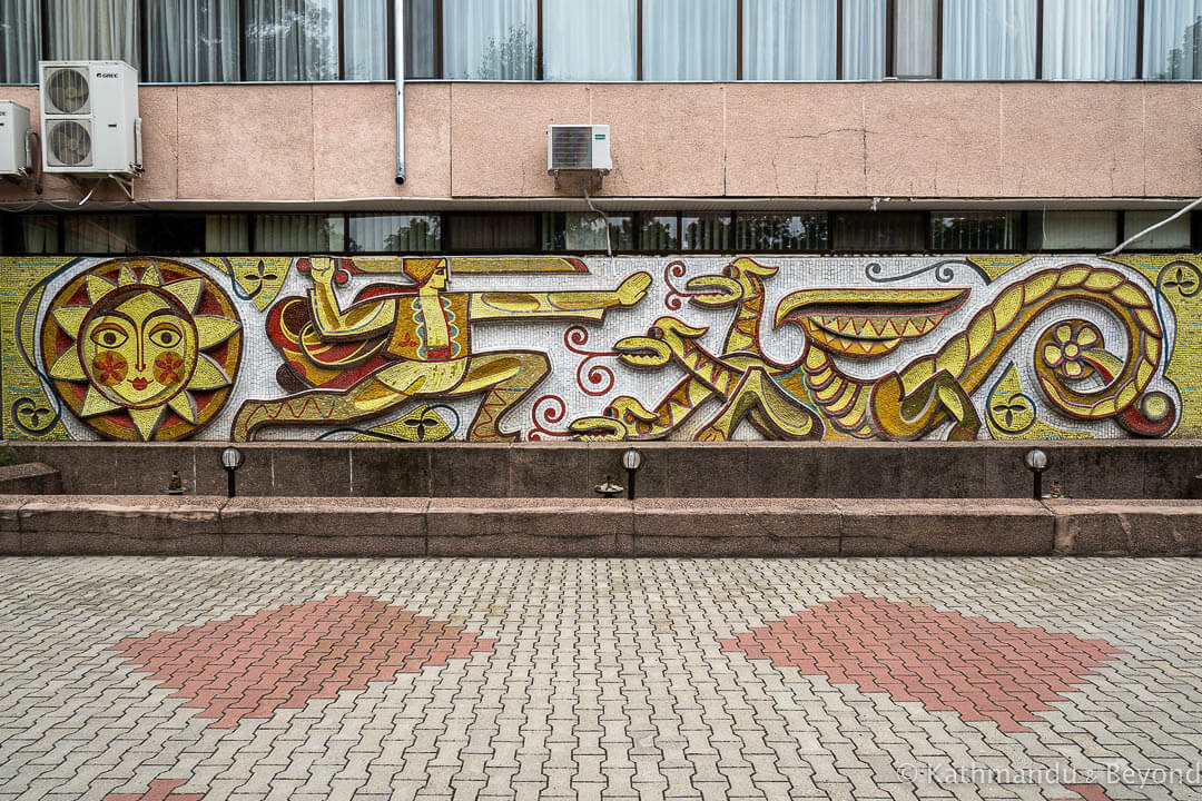 "Mosaic ""Făt-Frumos"" in Bendery (Bender), Transnistria | Soviet artwork | former USSR"