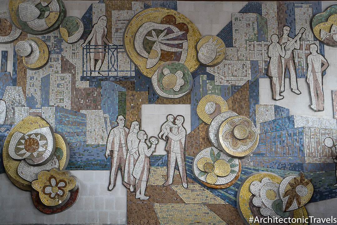"""The City is Flourishing and Being Built"" (Central Bus Station) in Chisinau, Moldova 