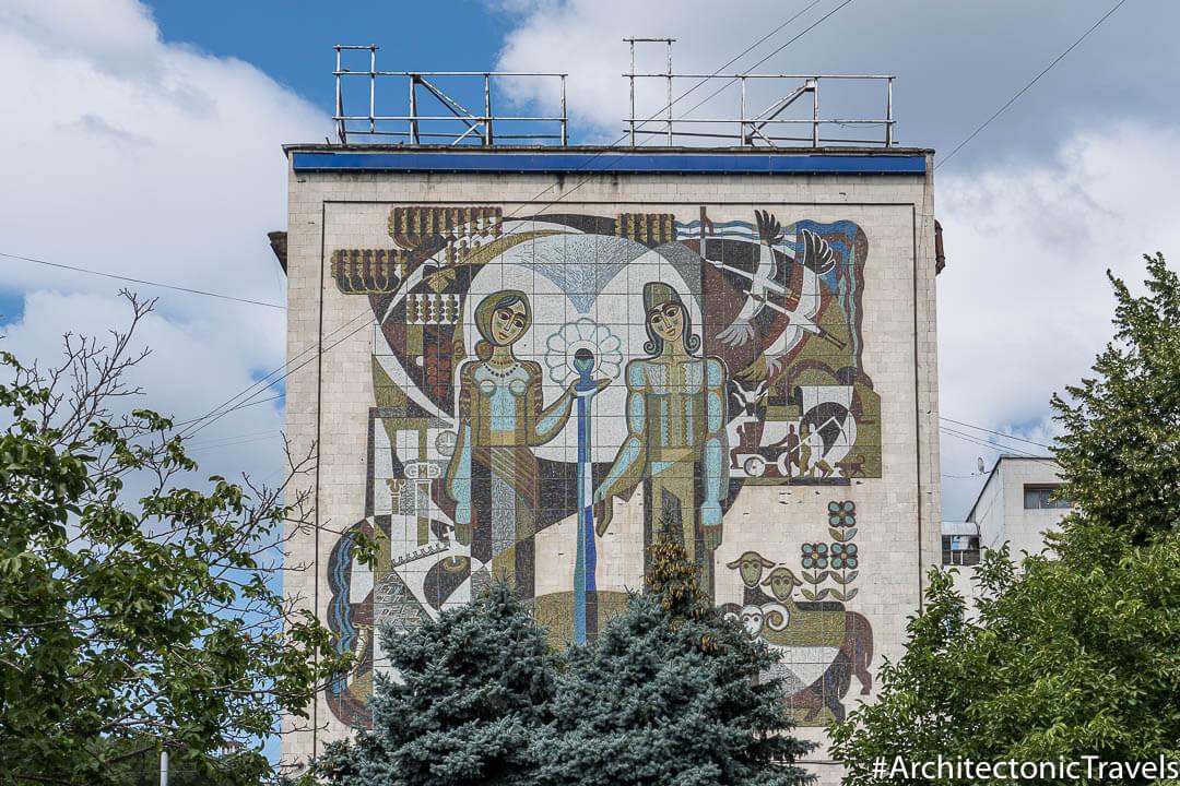 """The Legend of Chisinau"" in Chisinau, Moldova   Mosaic   Soviet artwork   former USSR"