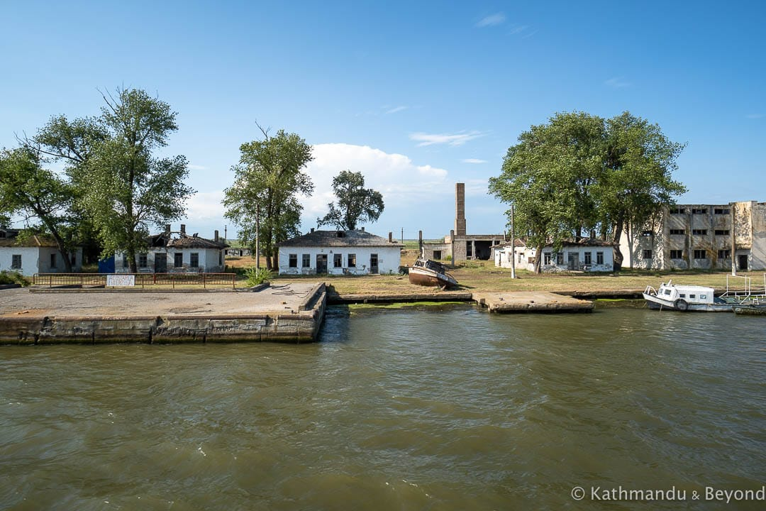 Abandoned building in the Danube Delta - Former Shipyard Sulina Romania