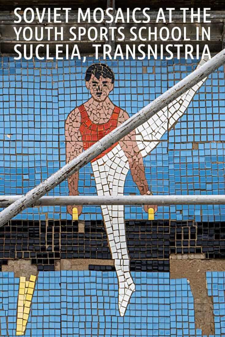 In photos - Soviet Mosaics at the Youth Sports School in Sucleia, Transnistria #travel #offthebeatenpath #moldova #europe #formerUSSR #Tiraspol #Sovietmosaics #gymnast