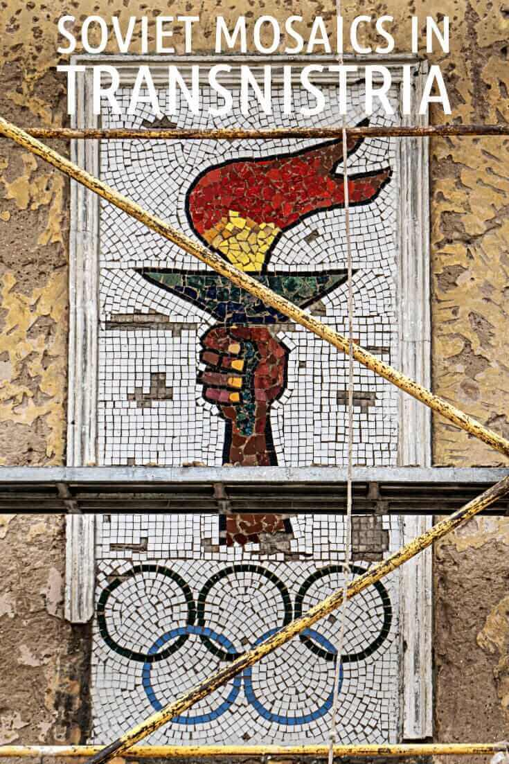 In photos - Soviet Mosaics at the Youth Sports School in Sucleia, Transnistria #travel #offthebeatenpath #moldova #europe #formerUSSR #Tiraspol #Sovietmosaics #olympicrings