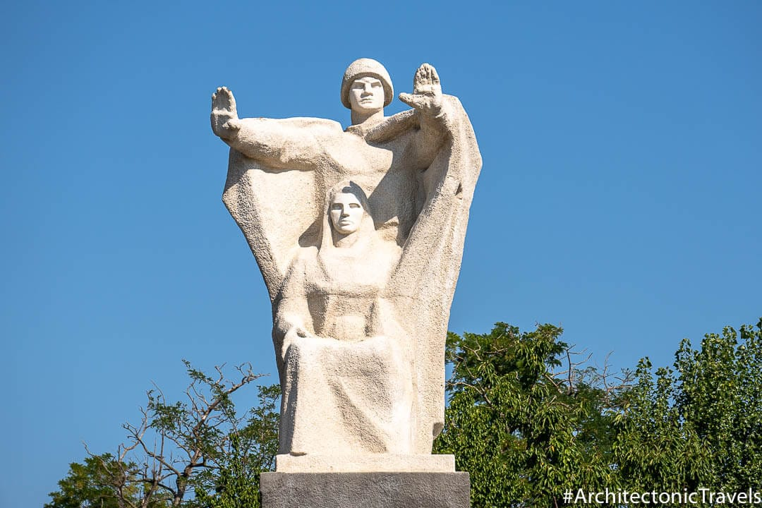 Memorial to the Great Patriotic War (Eternal Flame) in Comrat, Moldova | War memorial | Soviet memorial | former USSR