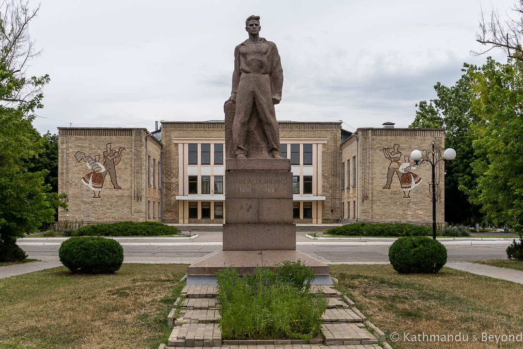 Monument to Pavel Tkachenko in Bendery (Bender), Transnistria | Soviet monument | former USSR