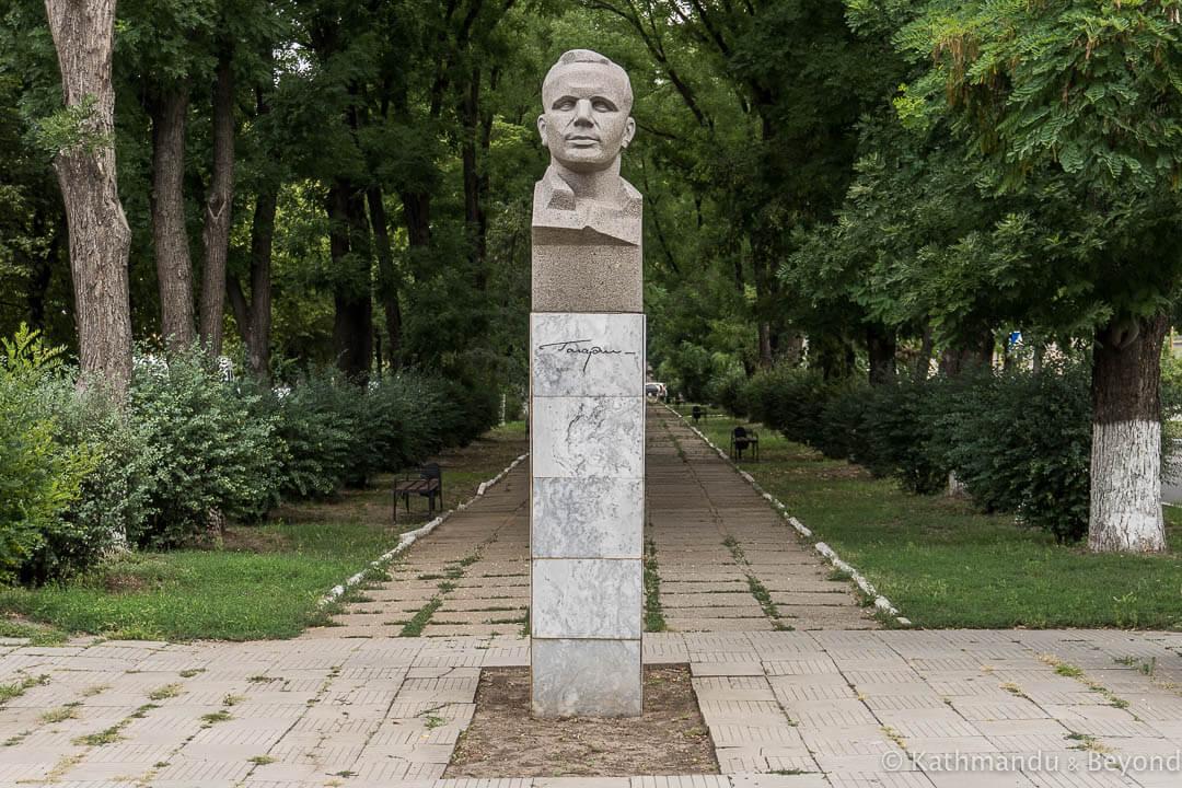 Monument to Yuri Gagarin in Tiraspol Transnistria   Soviet monument   former USSR