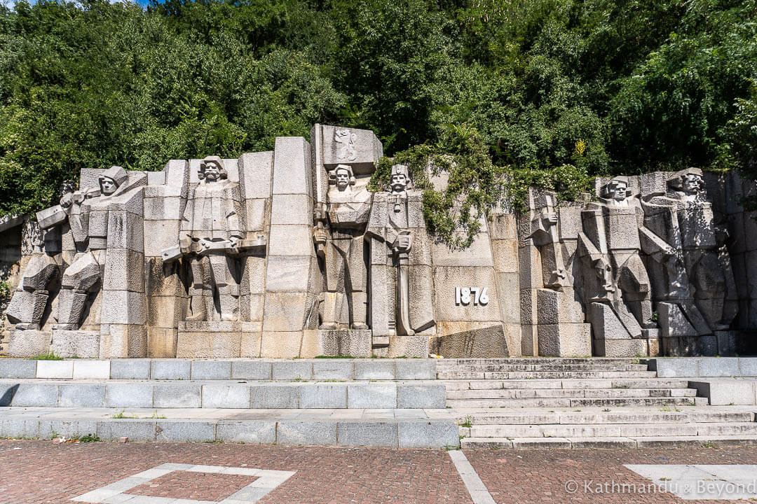 Monument to the 1876 Uprising Lovech Bulgaria - one of the best Communist monuments in Bulgaria