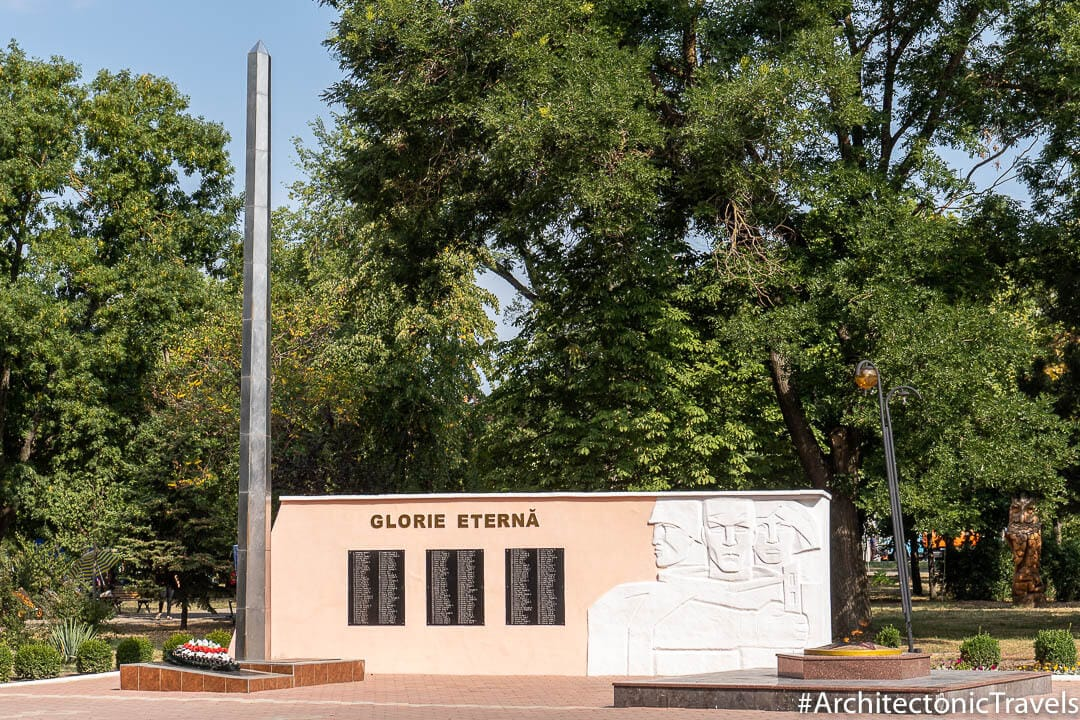 Monument to the Defenders of Cahul (Eternal Flame) Cahul Moldova-6