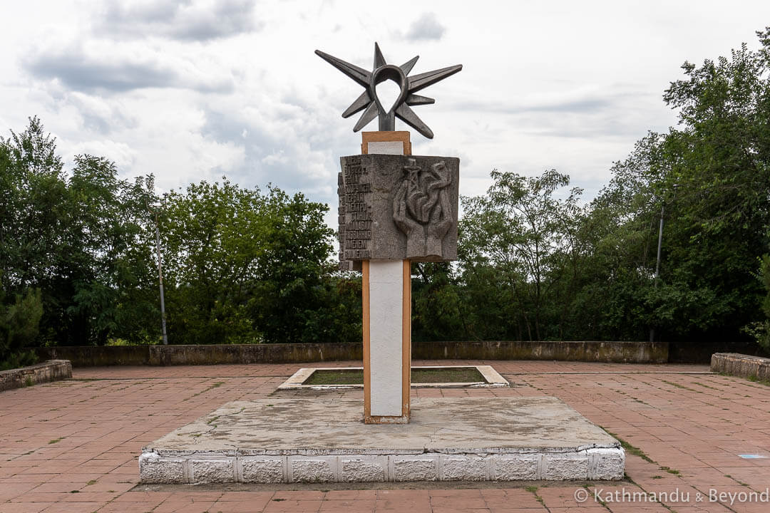 Monument to the First Moldovan Power Plant named after V.I. Lenin in Tiraspol, Transnistria | Soviet monument | former USSR