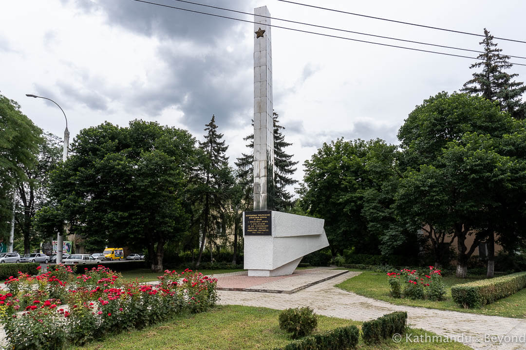 Monument to the Liberators of the City (Memorial for the 25th anniversary of the City Liberation from Nazi invaders and Monument to the Soldiers-Liberators of the 37th Army) in Tiraspol, Transnistria | War memorial | Soviet monument | former USSR