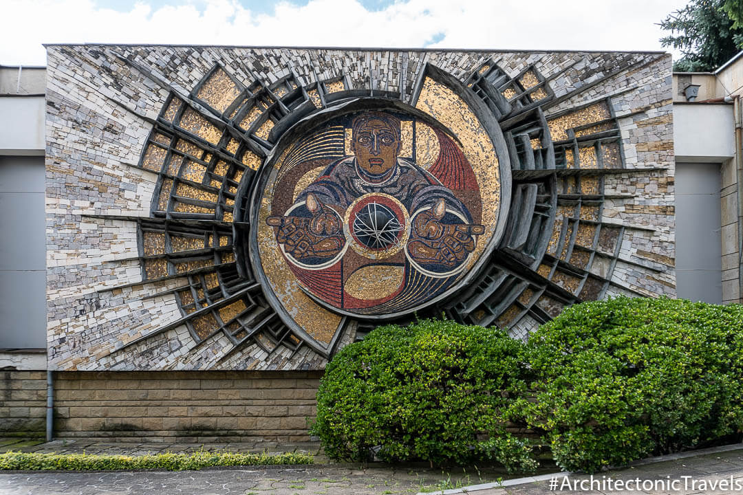 Municipality of Karlovo (former House of Technics) in Karlovo, Bulgaria | Mosaic | Socialist artwork | former Eastern Bloc