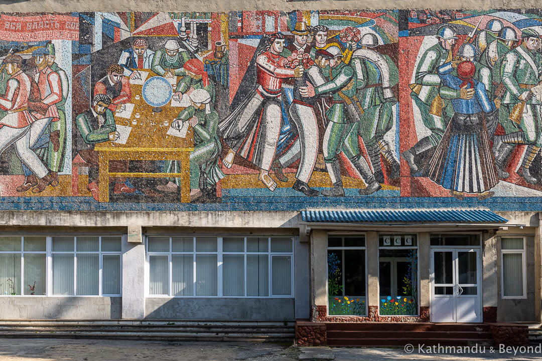 Palace of Culture in Cahul, Moldova | Mosaic | Soviet artwork | former USSR