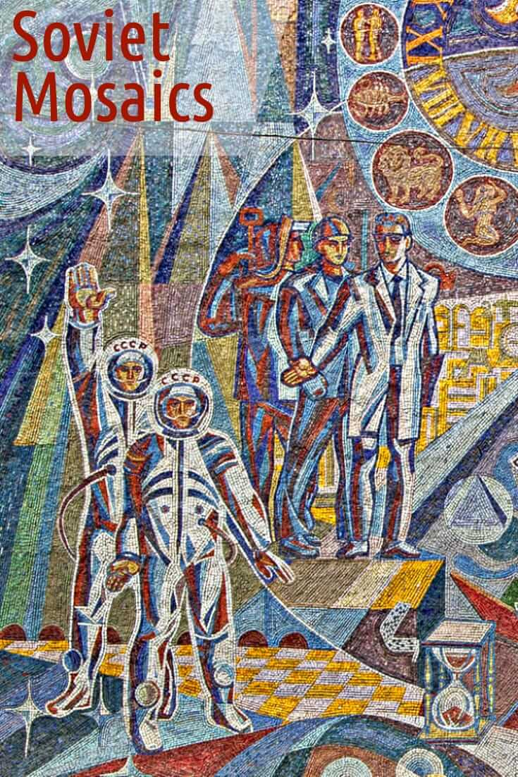 Photos of Soviet mosaics in the former USSR  #sovietmosaics #travel #easterneurope #centralasia #mosasic