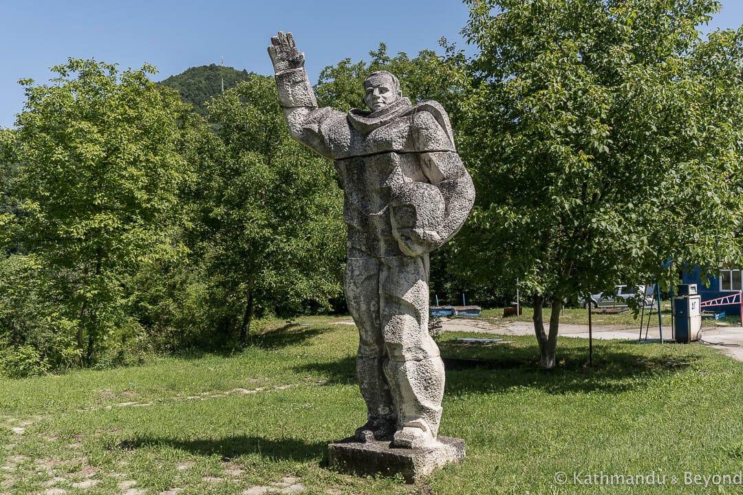Monument to Yuri Gagarin Gabrovo Bulgaria-4