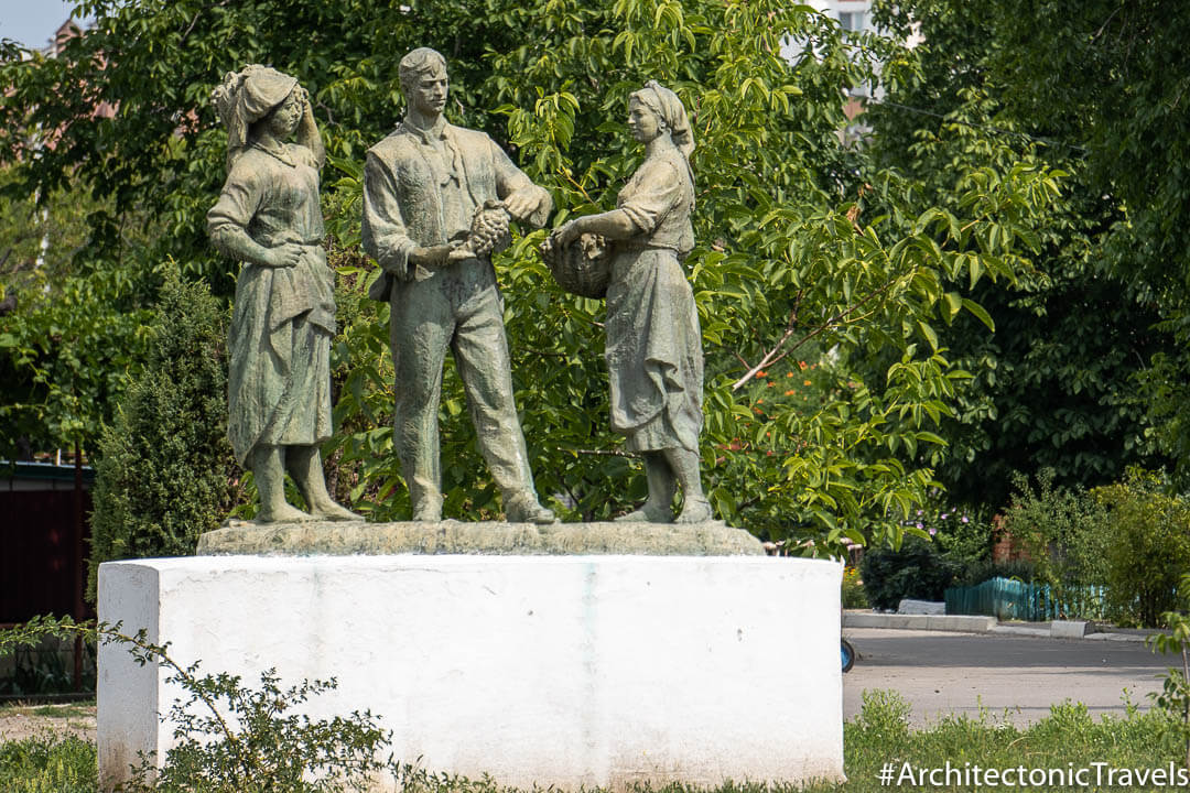 Monument to the Soviet Collective Farmers Sucleia Transnistria