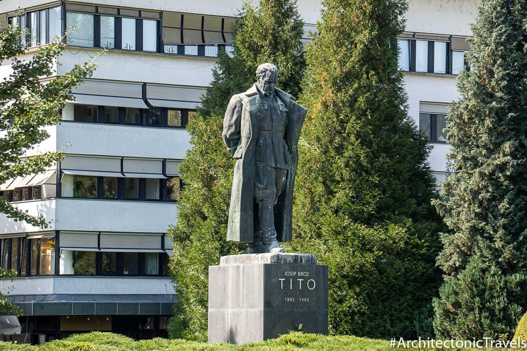 Monument to Josip Broz Tito (Tito Square) Velenje Slovenia