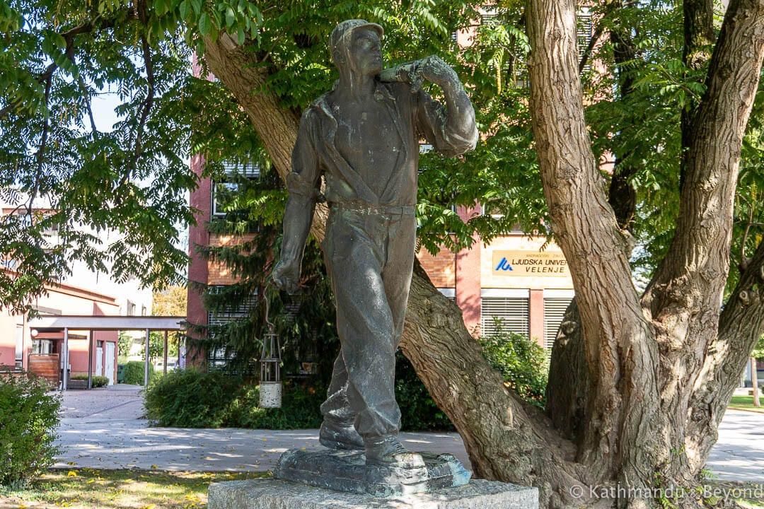 Miner Monument Tito Square Velenje Slovenia