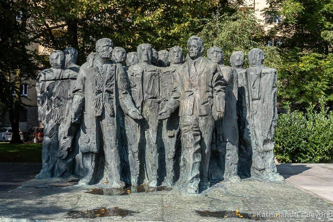 Monument To Edvardu Kardelju In Ljubljana Slovenia