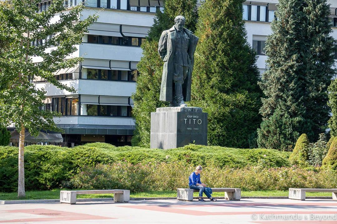 Monument to Josip Broz Tito Tito Square Velenje Slovenia-3