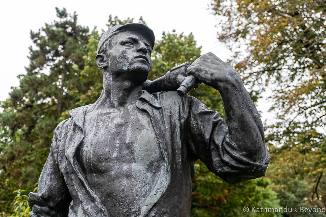 Monument to Miners in Ljubljana, Slovenia | Spomenik | Socialist monument | former Yugoslavia