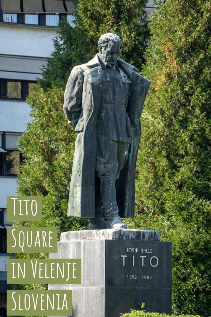 Off the beaten track Slovenia - Velenje's socialist-era Tito Square #Slovenia #alternativetravel #offthebeatenpath #tito #formeryugoslavia