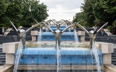 Kinetic Fountain and Cascade