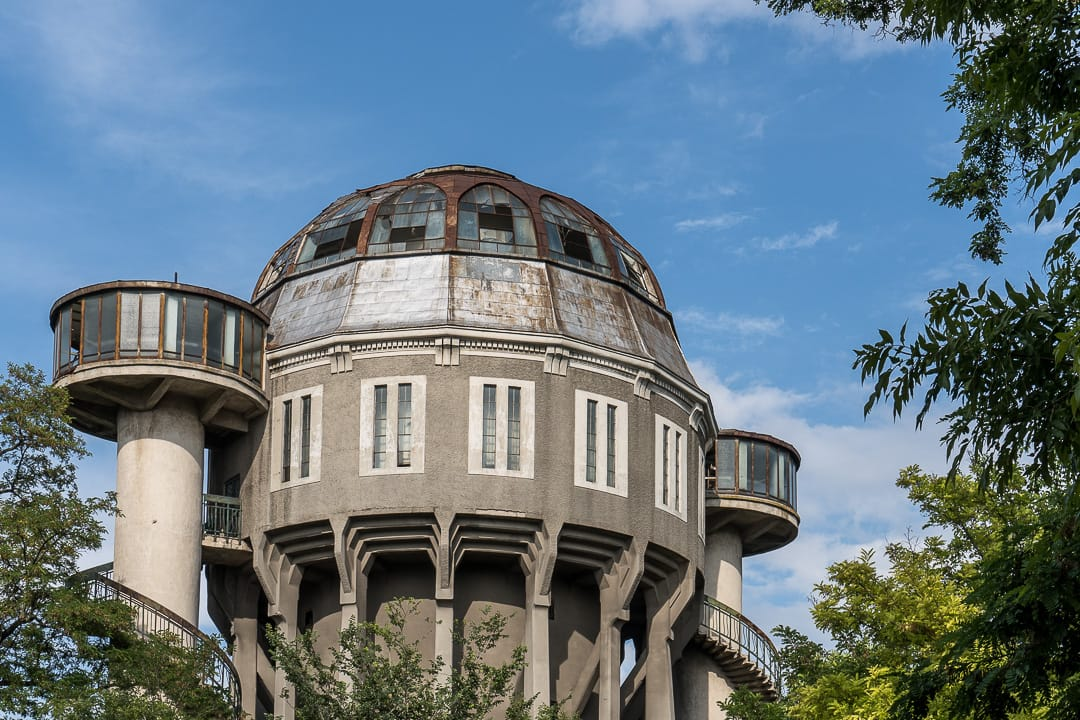 Former Water Tower Rotating Restaurant Braila Romania