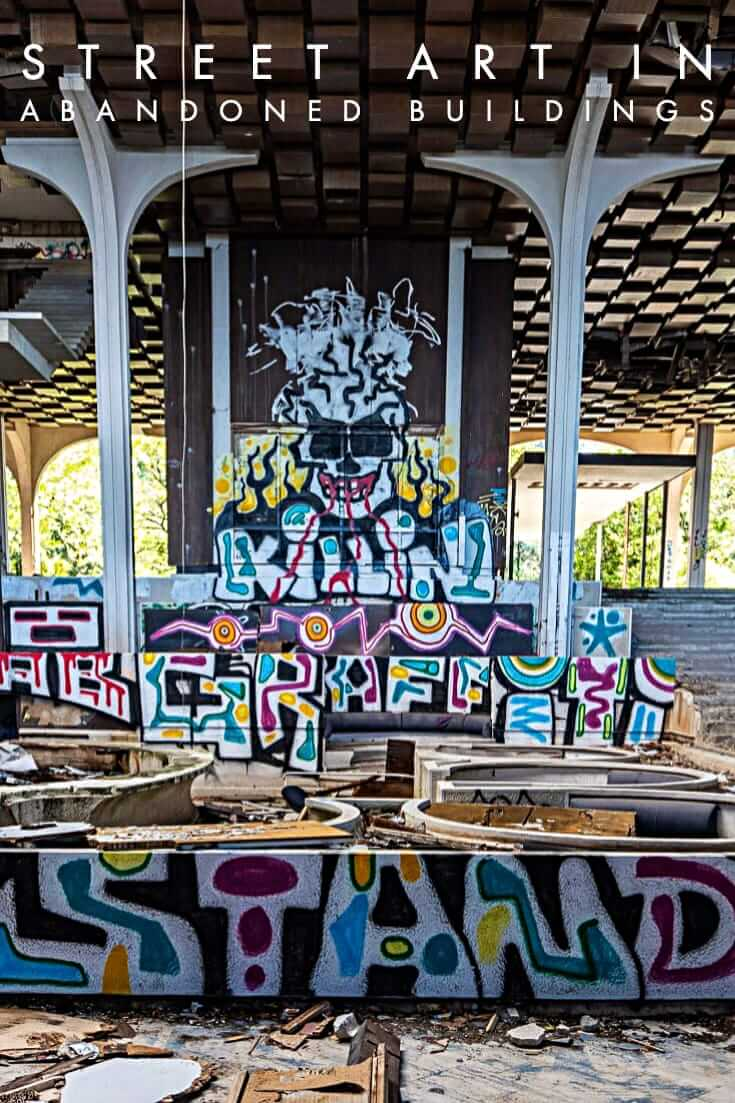 Street Art in Abandoned Buildings, a photo essay featuring urban art #urbex #streetart #graffiti #travel #abandonedhotel #croatia
