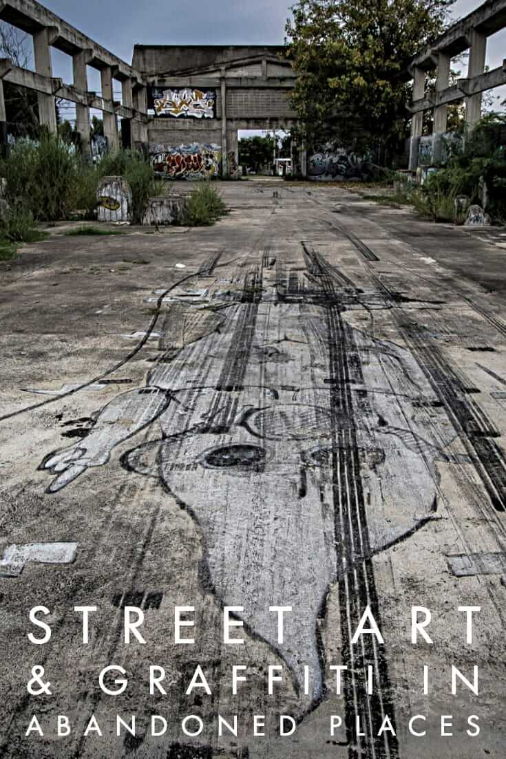 Street Art in Abandoned Buildings, a photo essay featuring urban art #urbex #streetart #graffiti #travel #huahin #thailand