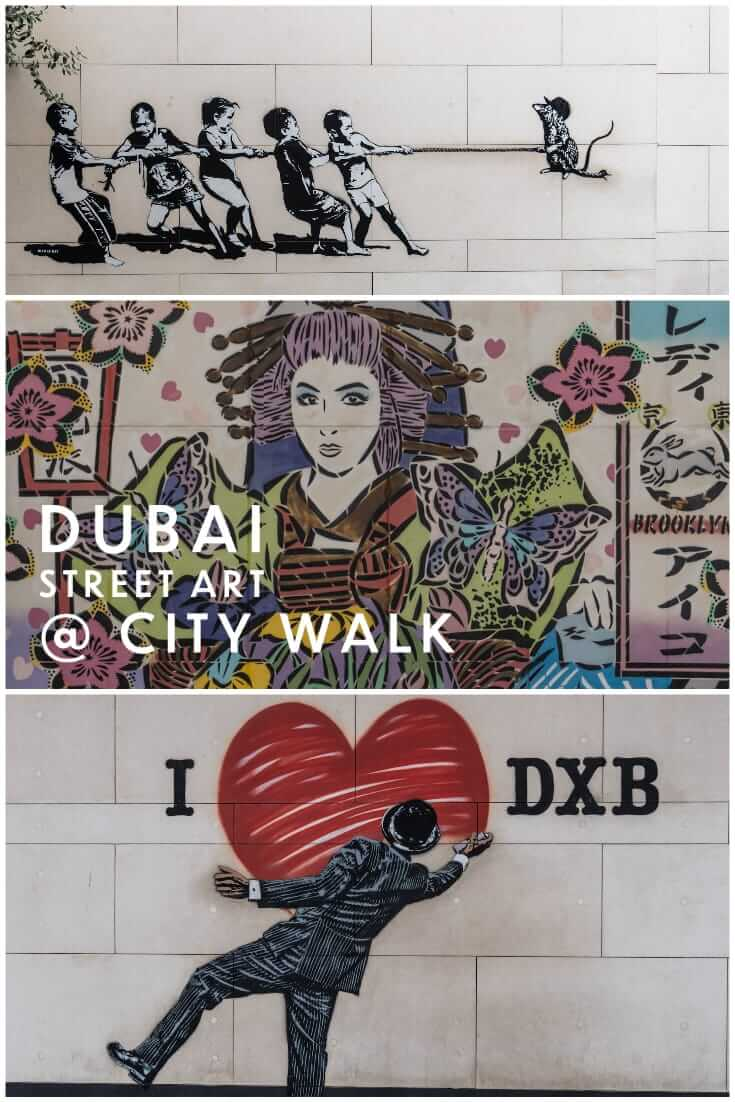 Amazing street art at City Walk Dubai in the United Arab Emirates #streetart #graffiti #uae #travel