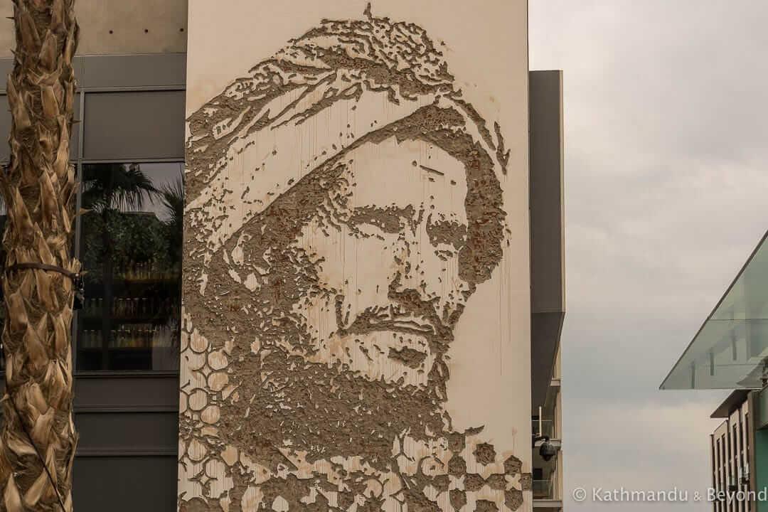 Bedouin (Scratching the Surface) by Vhils City Walk Street Art Dubai, United Arab Emirates