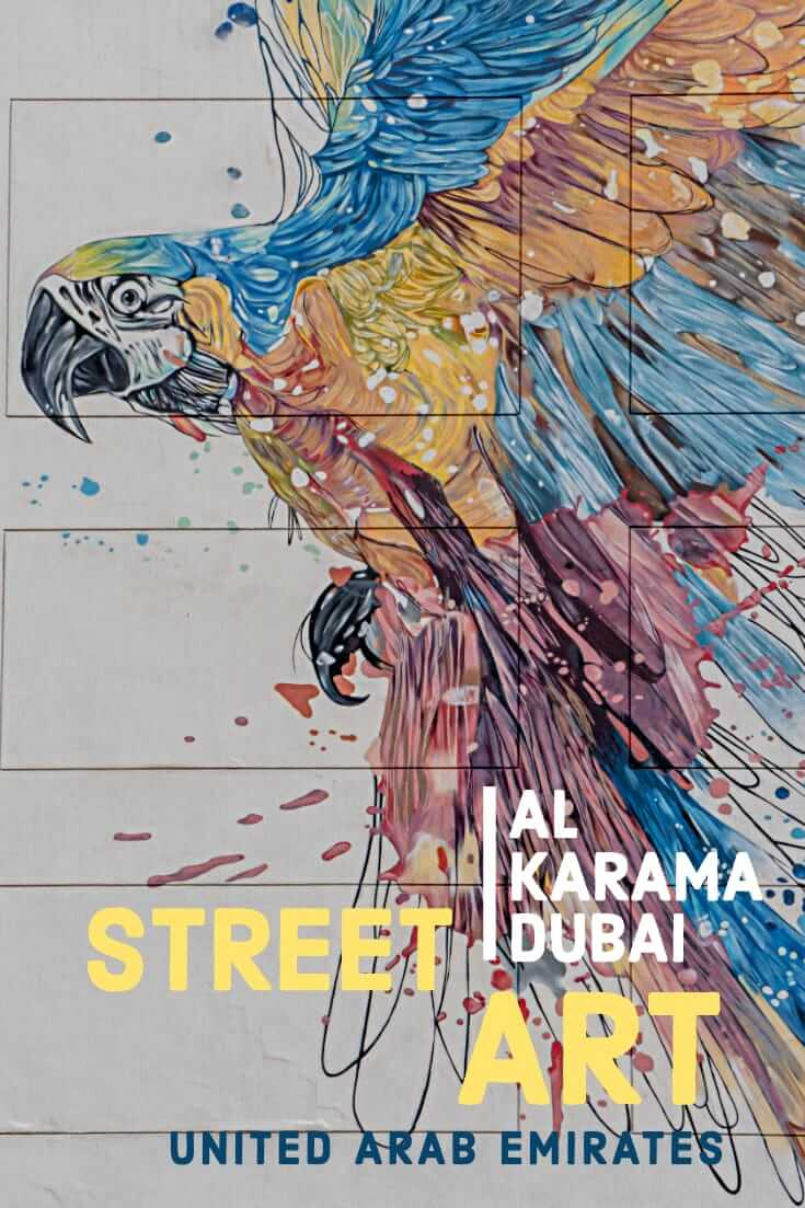 Dubai Street Art_ Karama - Among the best street art in the United Arab Emirates #streetart #graffiti #travel #uae