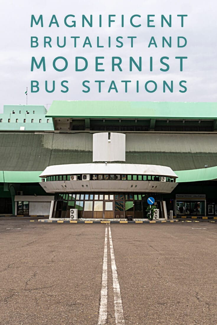 In Photos - Magnificent Brutalist and Modernist Bus Stations #travel #architecture #brutalism