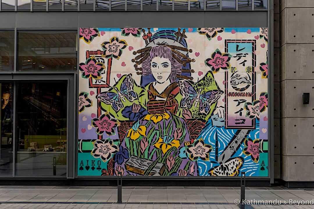Japanese Oiran gal By AIKO City Walk Street Art Dubai, United Arab Emirates