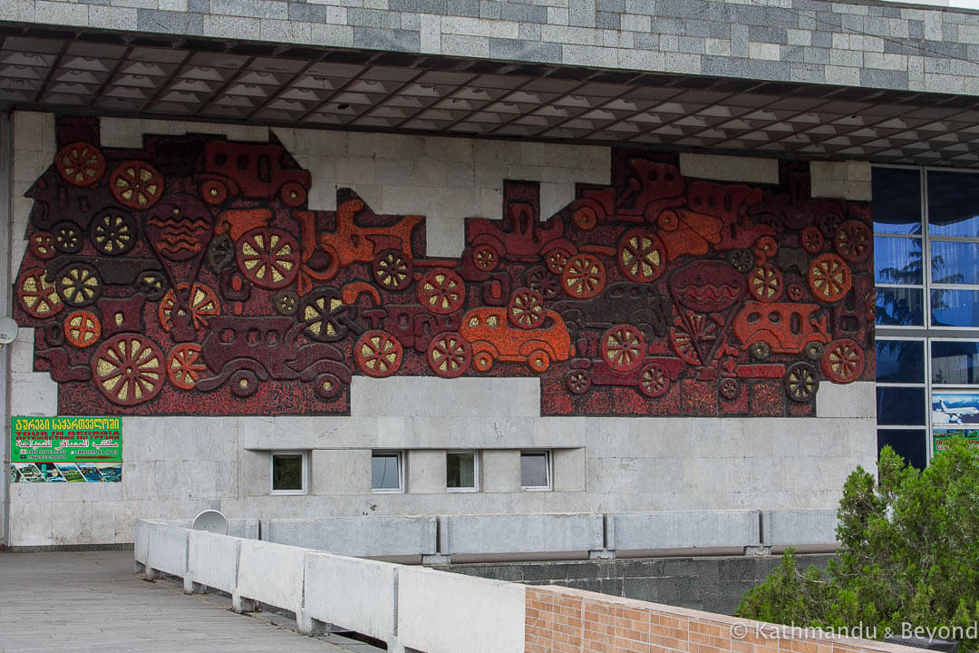 """History of Transport"" (Ortachala Bus Station) in Tbilisi, Georgia 